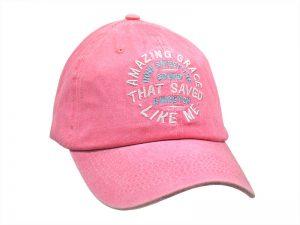 """PINK CAP """"AMAZING GRACE"""""""