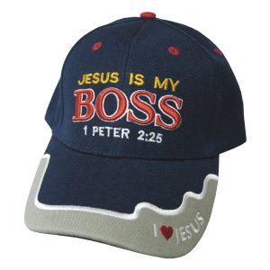 CAP NAVY JESUS IS MY BOSS