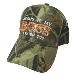 CAP CAMO JESUS IS MY BOSS