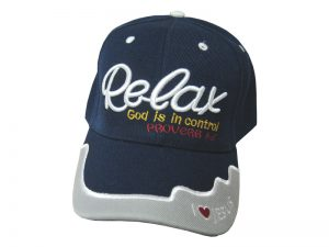 CAP NAVY RELAX GOD IN CONTROL