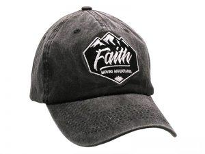 """GREY CAP """"FAITH MOVES MOUNTAINS"""""""
