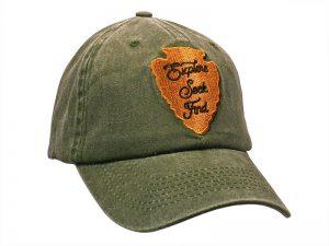 """GREEN CAP """"EXPLORE SEEK FIND"""""""