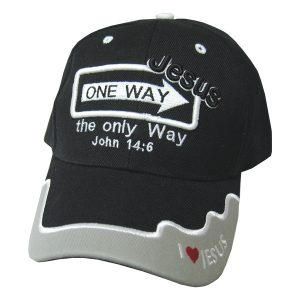 CAP BLACK ONE WAY JESUS