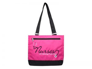 TOTE NURSES ARE BLESSINGS MAGENTA