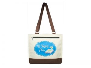 TOTE MY HAPPY PLACE  12.5X11.5X6