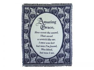 THROW AMAZING GRACE BLUE 48X60