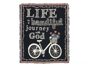 TAPESTRY LIFE IS A BEAUTIFUL JOURNEY WITH GOD 52X60