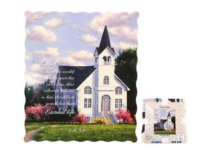 QUILTED THROW-JOHN 3:16 50″ X 60″