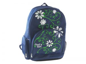 BACK PACK GOD'S GIRL (FLOWERS)