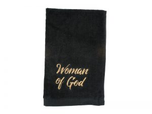 PASTOR TOWEL WOMAN OF GOD BLACK