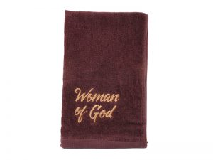 PASTOR TOWEL WOMAN OF GOD BURGUNDY