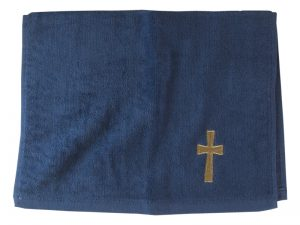 PASTOR TOWEL CROSS NAVY