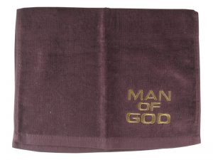 PASTOR TOWEL MAN OF GOD BURGUNDY