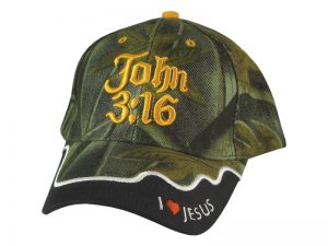 CAP CAMO JOHN 3:16