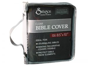 BIBLE COVER CLEAR 8.5 X10