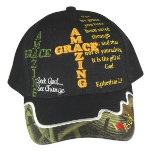CAP BLACK AMAZING GRACE