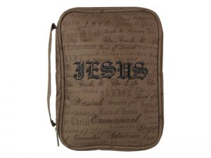 BIBLE COVER CANVAS NAMES OF JESUS L
