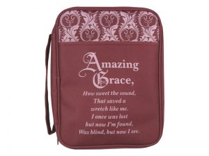 BIBLE COVER CANVAS AMAZING GRACE L