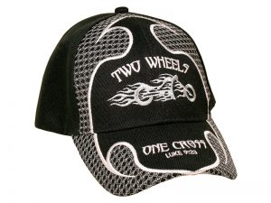 CAP BLACK TWO WHEELS ONE CROSS