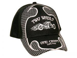 CAP BLACK TWO WHEELS ONE CROSS
