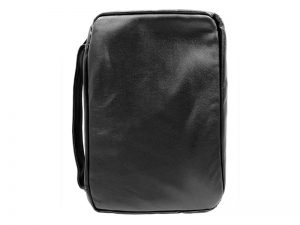 BIBLE COVER LAMBSKIN BLACK L