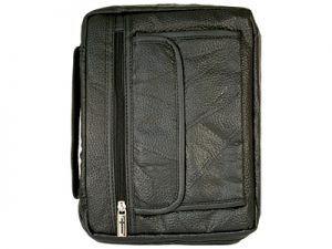 BIBLE COVER LEATHER BLACK L