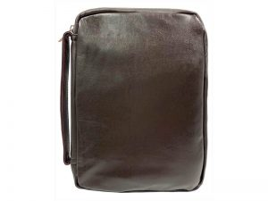 BIBLE COVER LAMBSKIN FULL PANEL BROWN  L