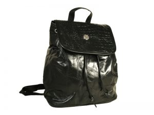 PATCHWORK LEATHER BACKPACK W/ MEDALLION