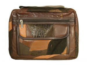 BIBLE COVER PATCHWORK LEATHER BROWN L