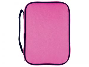 BIBLE COVER CANVAS COLORFUL PINK/BLACK L