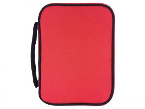 BIBLE COVER CANVAS COLORFUL RED/BLACK L