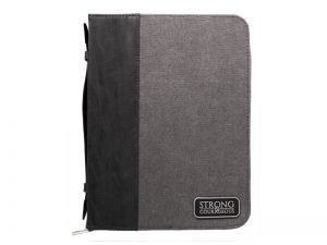 BIBLE COVER IMITATION LEATHER STRONG COURAGEOUS L