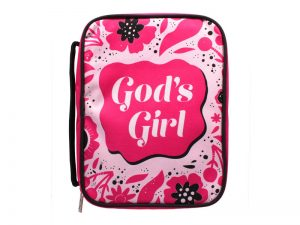 BIBLE COVER CANVAS  GODS GIRL  L