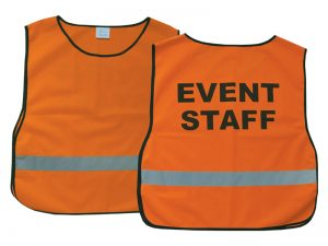 SAFETY VEST EVENT STAFF ORANGE XL