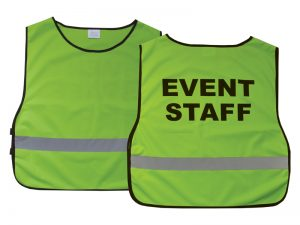 SAFETY VEST EVENT STAFF GREEN XL