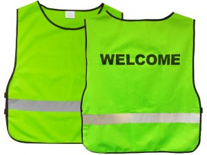 "SAFETY VEST GREEN XL ""WELCOME"""