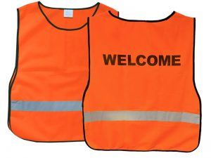 "SAFETY VEST ORANGE XL ""WELCOME"""