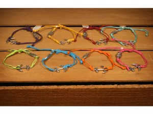 ASSORTED ANCHOR & JESUS FISH CHRISTIAN BRACELET 12 PC