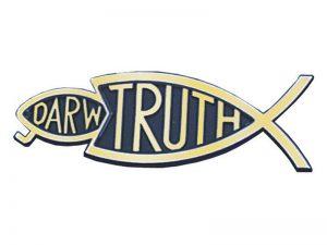 AUTO EMBLEM TRUTH FISH EATS DARWIN GOLD 6PK