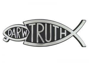 AUTO EMBLEM TRUTH FISH EATS DARWIN SILVER 6PK