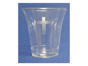 COMMUNION CUPS W/CROSS FULL SIZE 1 3/8in 1000CT