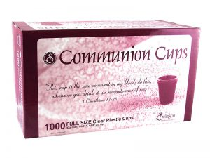 COMMUNION CUPS CLEAR FULL SIZE 1 3/8in 1000 CT