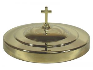 DELUXE COMMUNION BREAD PLATE COVER GOLD