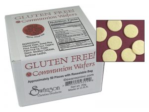 COMMUNION BREAD WAFERS GLUTEN FREE SWANSON 50CT