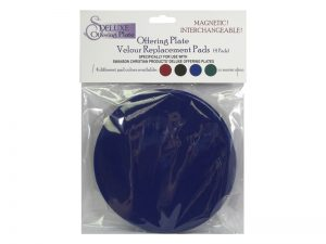 OFFERING PLATE SET OF 4 REPLACEMENT PADS DEEP BLUE