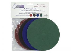 OFFERING PLATE SET OF 4 REPLACEMENT PADS ASSORTED