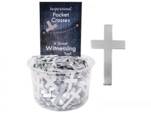 POCKET CROSS BLANK SILVER 200PK