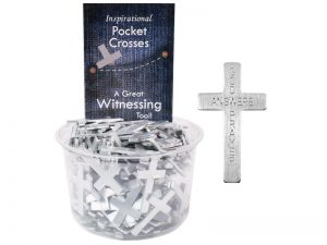 POCKET CROSS GOD ANSWERS PRAYERS SILVER 200PK