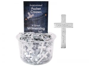 POCKET CROSS I CAN DO ALL THINGS SILVER 200PK