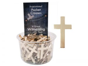 POCKET CROSS BLANK GOLD 200PK